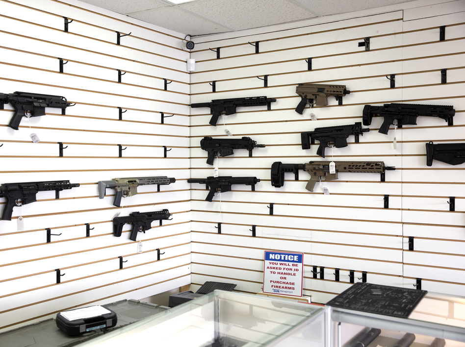 In April 2020, Washington State Gov. Jay Inslee did not list gun stores as essential businesses that could stay open during his Stay-at-Home order to prevent the spread of the coronavirus. However, some retail gun shops followed orders by then-President Trump and state Republicans who advised that the firearms industry could remain open. There was an uptick in gun and ammo sales. (Karen Ducey/Getty Images)