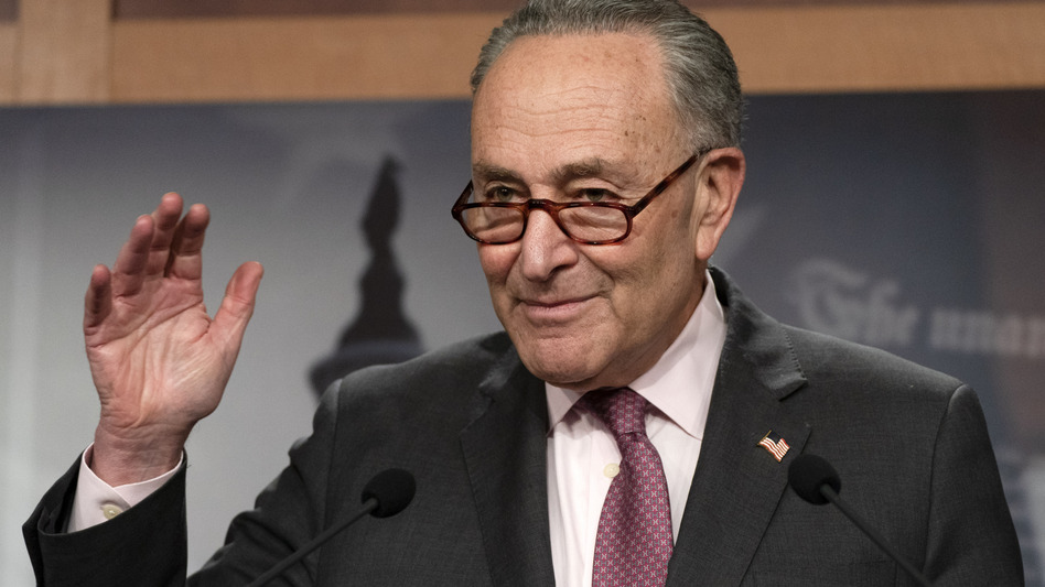 Senate Majority Leader Chuck Schumer, D-N.Y., is working to keep both moderates and progressives inside his caucus on board with the $1.9 trillion coronavirus relief bill and pass it this week. (Jacquelyn Martin/AP)