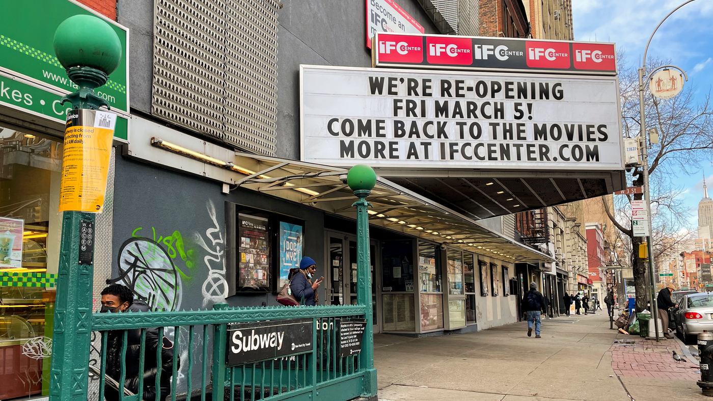 Reopening Movie Theaters In NYC Has Implications For The Entire Movie Business - NPR