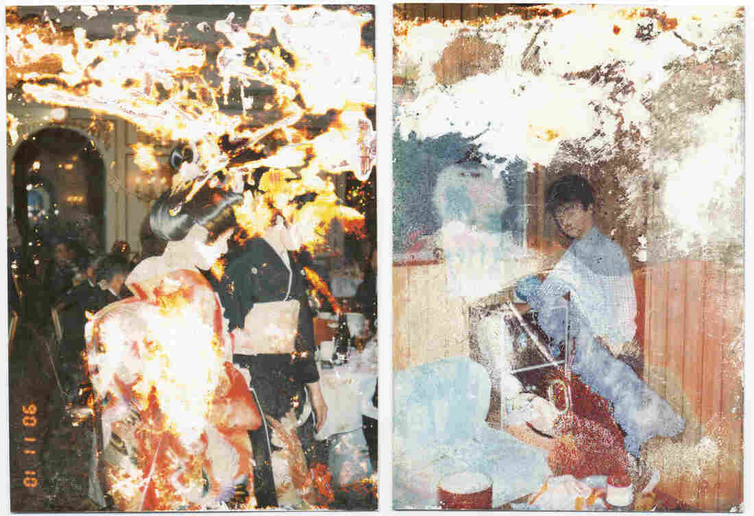 Damaged family photos from Japan's tsunami and nuclear disaster in 2011.