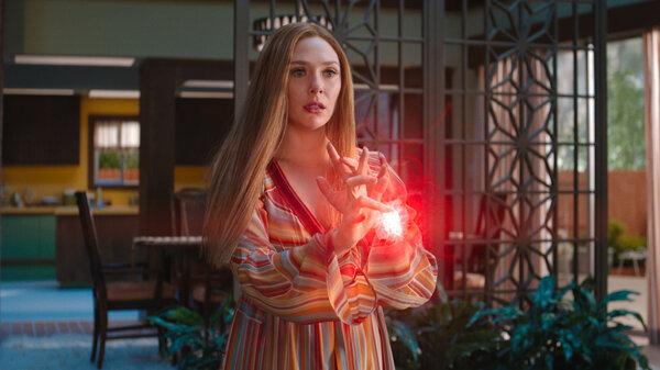 Elizabeth Olsen as Wanda Maximoff in the Disney Plus series WandaVision.