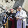 Pope Francis is visiting an Iraqi region where ISIS has destroyed cities and lives