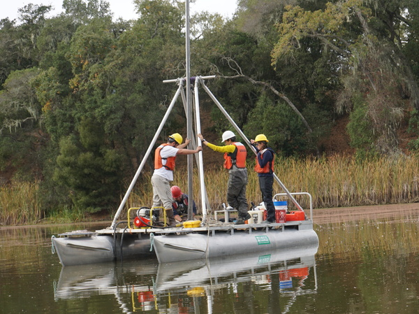 A team from Stanford University took samples of sediment from Searsville Reservoir in California. The site is one of 11 around the world that could end up officially defining the beginning of a new geological period, the Anthropocene Epoch.