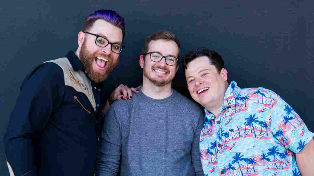 Brothers Travis, Griffin, and Justin McElroy.
