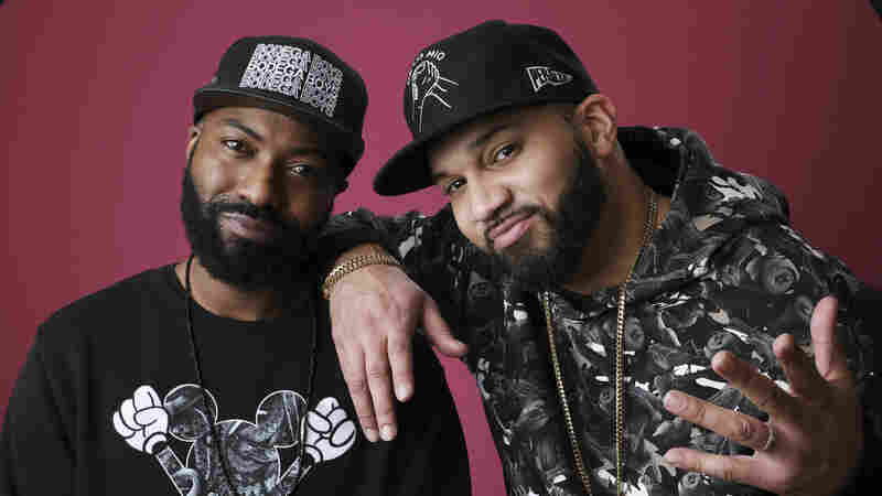 Desus Nice, left, and The Kid Mero at the Winter Television Critics Association Press Tour in Pasadena, Calif., in January 2019.