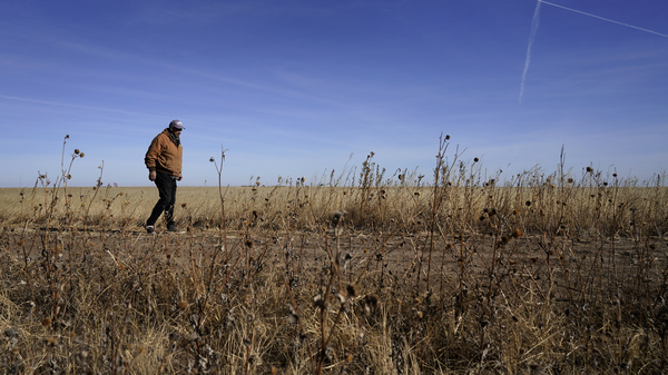 Rod Bradshaw, pictured in January 2021, says he's the last Black farmer in Hodgeman County, Kan. Agriculture Secretary Tom Vilsack talked with NPR about debt relief coming for Black farmers.