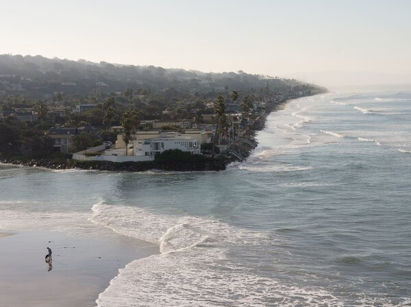 Water is reaching sea walls more frequently during high tides and storm events, residents of Del Mar say.