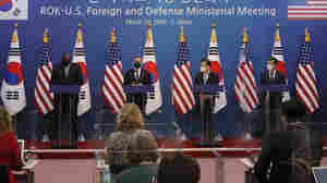 U.S. Officials Reassure S. Korea On Visit, But Differences Emerge On N. Korea Policy