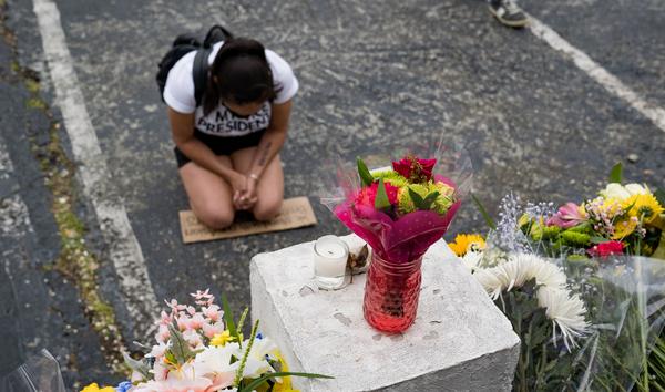 Flowers honor people who were shot in Atlanta