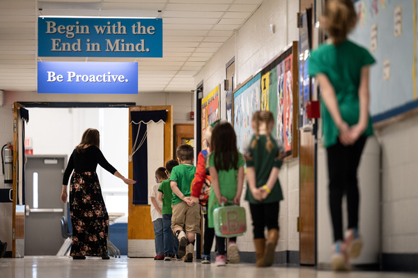 Experts predict in-person schools will be able to open widely around the country by fall. Some places already have, such as Medora Elementary School in Louisville, Ky.