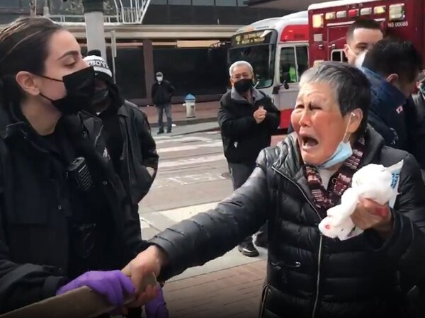 Xiao Zhen Xie, 75, is recovering after she was punched by a man in San Francisco. Her family says that despite being hurt, she fought back to defend herself.
