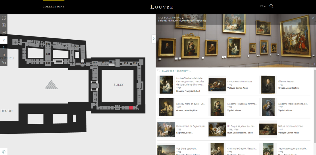 Screenshot of the collections.louvre.fr database.