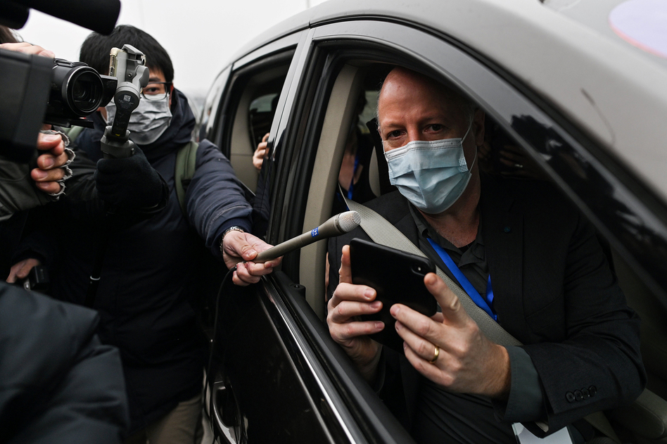 World Health Organization investigative team member Peter Daszak (shown here during a trip to China in February) tells NPR that the group's report calls for additional research on farms that breed exotic animals in southern China. (Hector Retamal/AFP via Getty Images)
