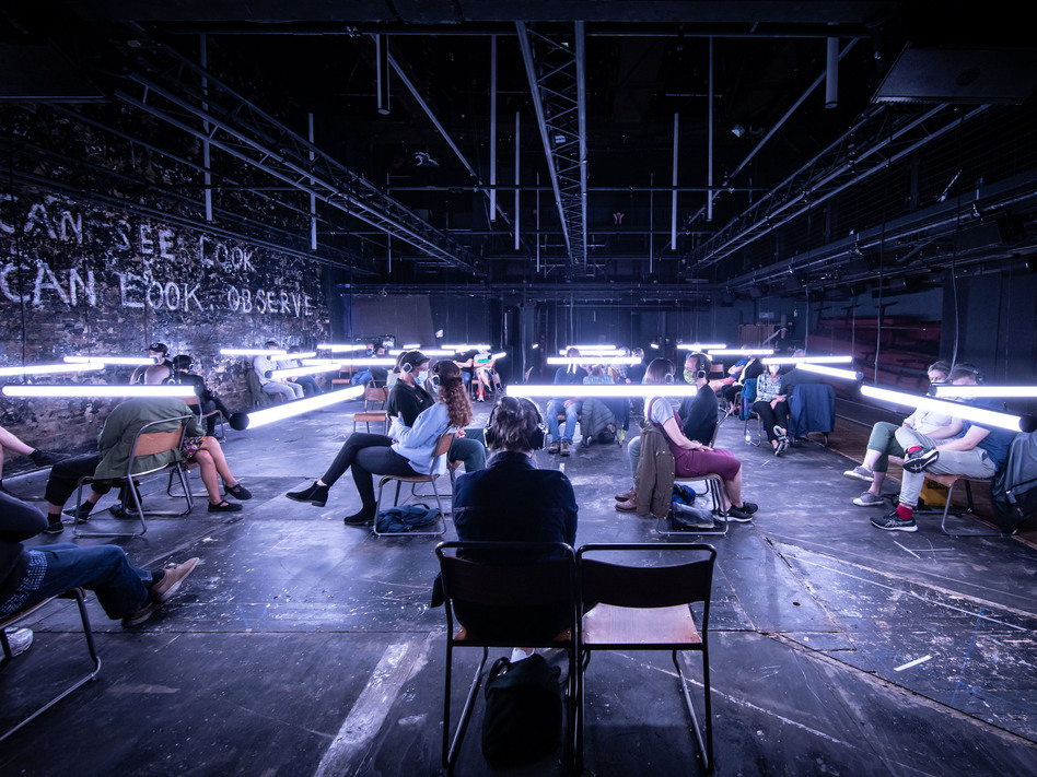 <em>Blindness</em> is a sound and light show based on a book by José Saramago. (Helen Maybanks/via Bodeau/Bryan-Brown)