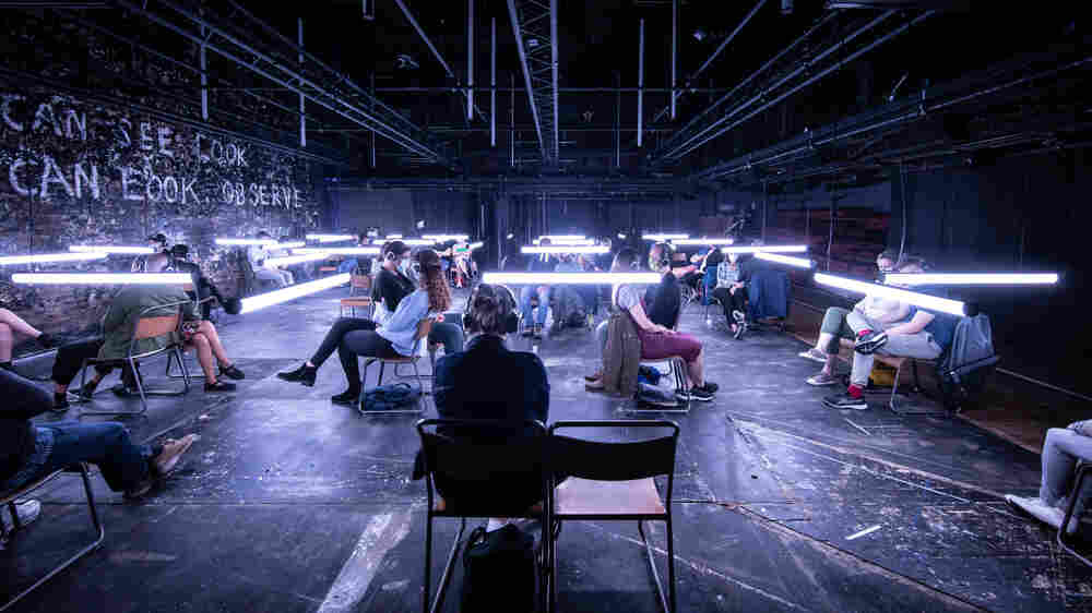 Indoor Theater Slowly Resumes In A Socially Distanced Way In New York City