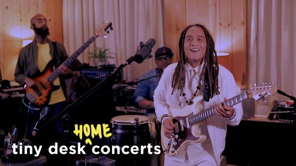 Yasser Tejeda performs a Tiny Desk (home) concert.