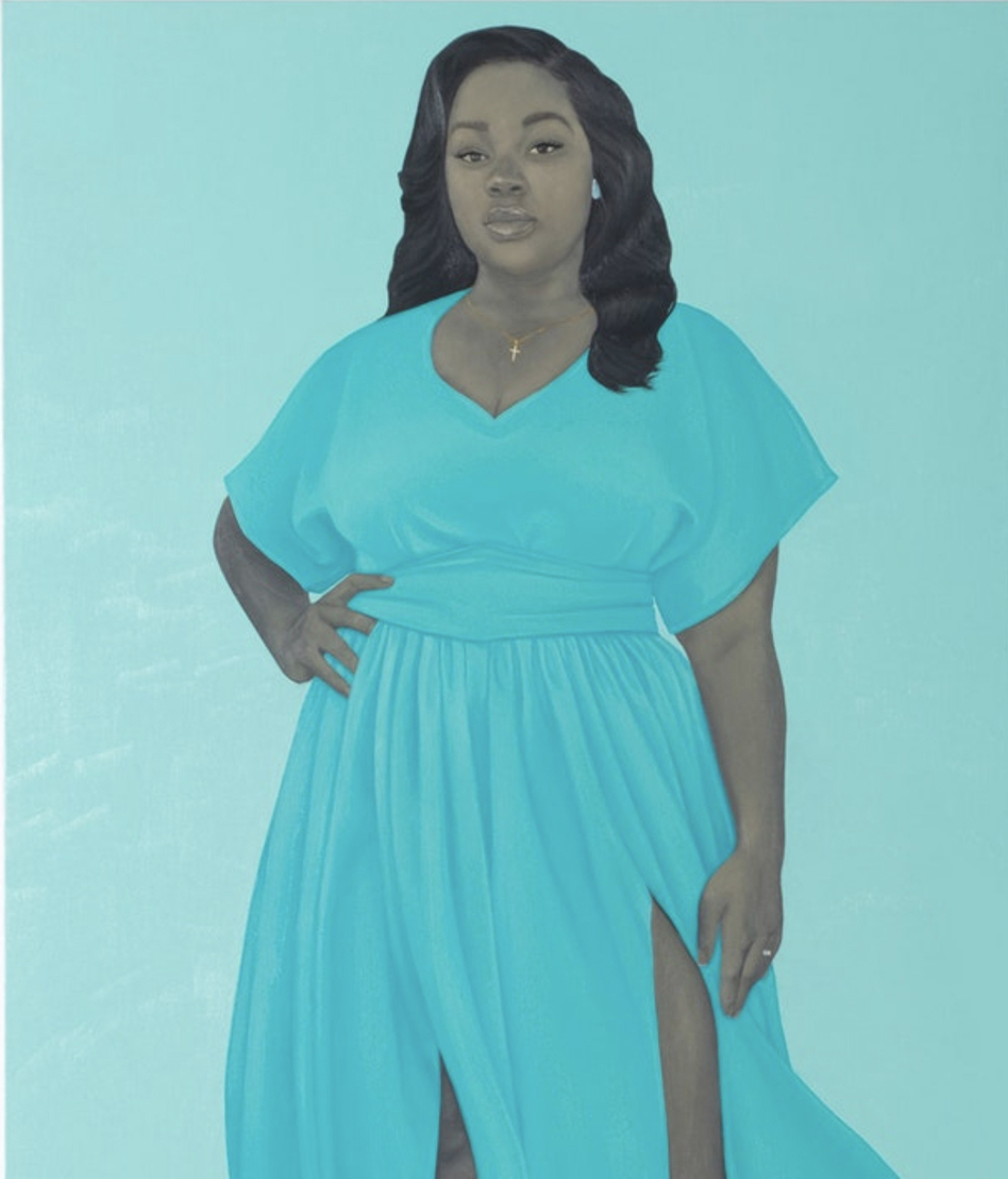 Amy Sherald, <em>Breonna Taylor,</em> 2020, oil on linen (Joseph Hyde/© Amy Sherald. Courtesy the artist and Hauser & Wirth)