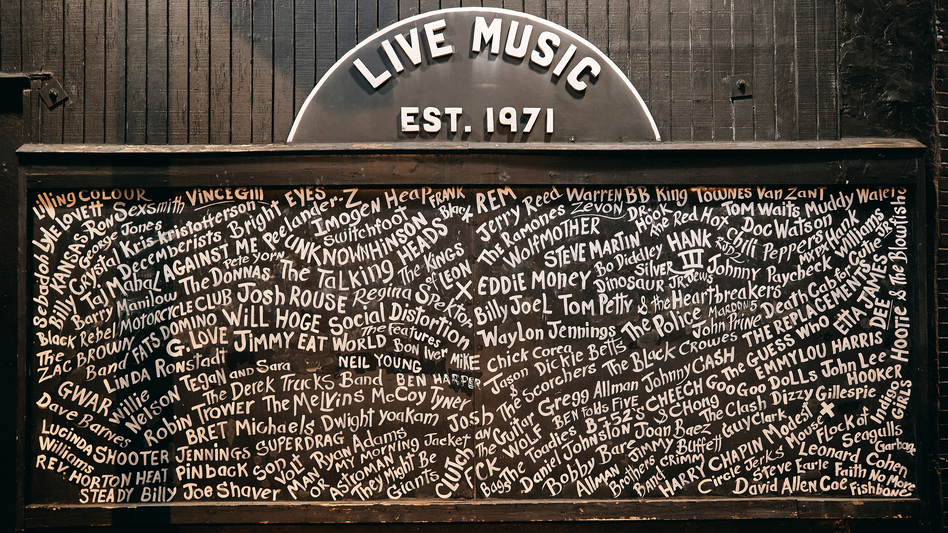 The exterior of the music venue Exit/In in Nashville, Tenn. Small clubs like this were among the hardest hit by the coronavirus shutdowns.