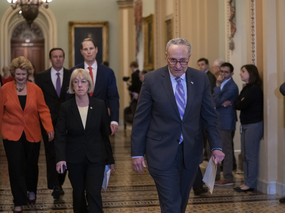Democrats such as Senate Majority Leader Chuck Schumer of New York and Sen. Patty Murray of Washington state are betting that the era of big government is back. (J. Scott Applewhite/AP)