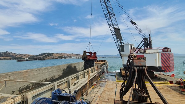 Dredging ships remove more than two million cubic yards of sediment from San Francisco Bay shipping channels ever year.