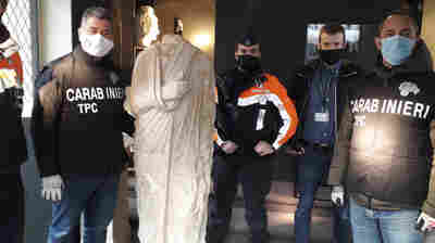 1st Century Roman Statue, Looted A Decade Ago, Found In Belgium By Off-Duty Police