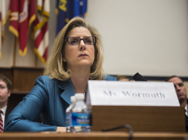 Christine Wormuth, pictured testifying on Capitol Hill in March 2015 during her tenure as defense undersecretary for policy, is President Biden's pick for secretary of the Army.