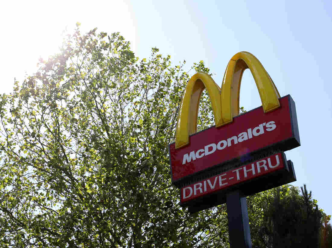 SOUTHAMPTON, ENGLAND - MAY 30: A sign is seen for McDonald's in Southampton which also has a Drive Thru on May 30, 2020 in Southampton, England. (Photo by Naomi Baker/Getty Images)
