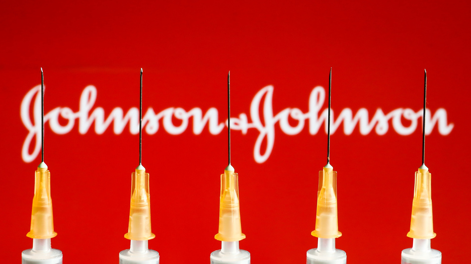Johnson & Johnson was mentioned roughly the same amount every hour online Tuesday as it was in entire weeks before news of the vaccine's pause, according to the tracking firm Zignal Labs. (Jakub Porzycki/NurPhoto via Getty Images)
