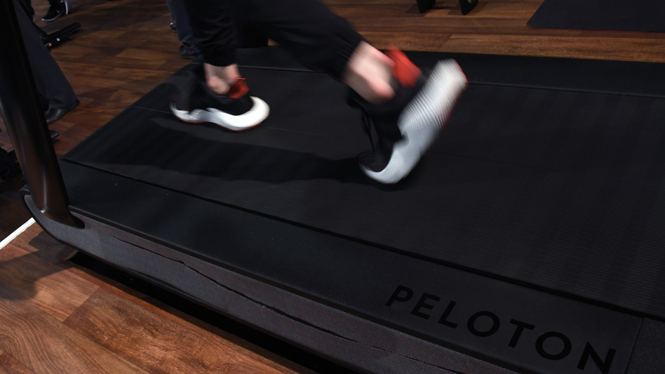 """The U.S. Consumer Product Safety Commission says it believes the Peloton Tread+ poses serious risks to children, but the company calls the warning """"inaccurate and misleading."""" (Ethan Miller/Getty Images)"""