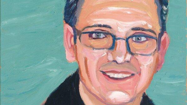 A portrait of Carlos Mendez, by former President George W. Bush.