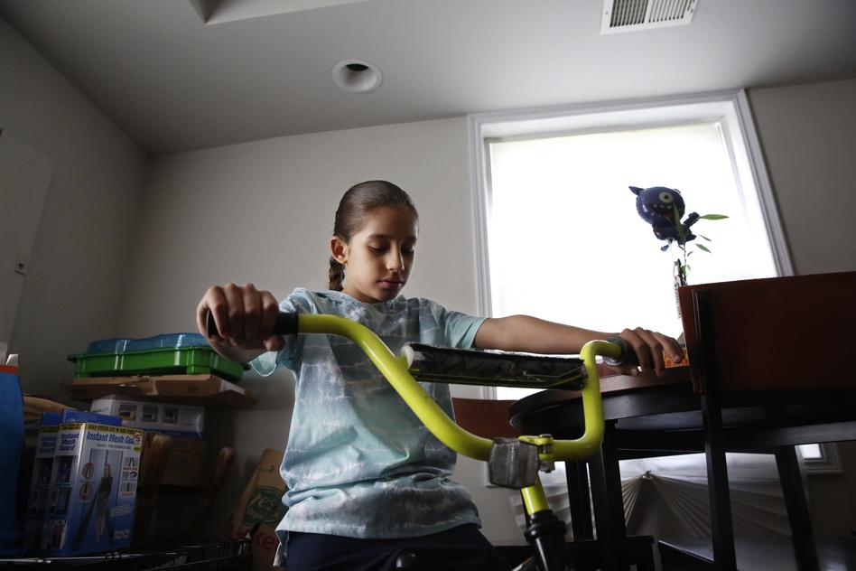 Kai Humphrey, 9, has spent the past year learning remotely. His mom, Rashida Humphrey-Wall, says it's been hard on him.