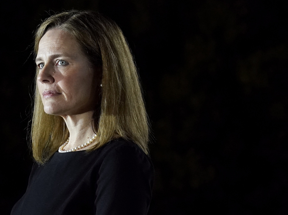 The Democratic lawmakers' recusal letter comes at an awkward time for Justice Amy Coney Barrett after reports of her receiving a $2 million advance for a book deal. (Patrick Semansky/AP)