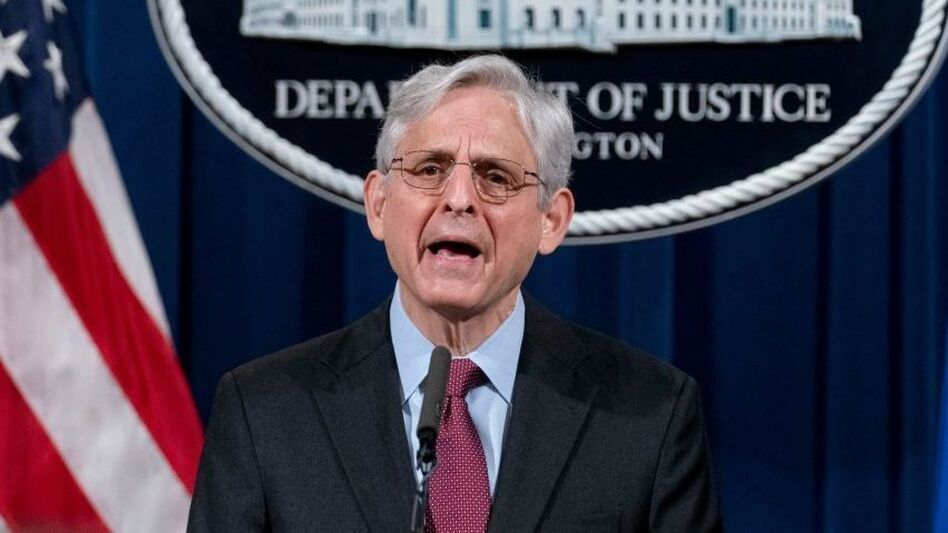 Attorney General Merrick Garland announces a Justice Department probe of possible patterns of excessive force and discrimination by the Minneapolis Police Department on Wednesday. (Andrew Harnik/Pool/AFP via Getty Images)