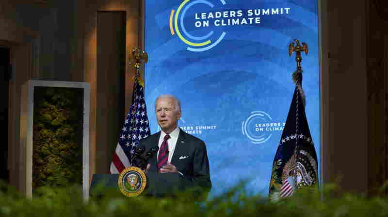 At Climate Summit, Biden Stresses U.S. Commitment And Economic Opportunity
