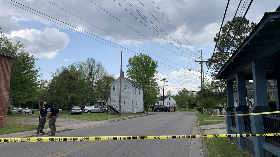 The Elizabeth City, N.C., neighborhood where Andrew Brown Jr. was fatally shot by a sheriff's deputy was cordoned off for several hours on Wednesday.