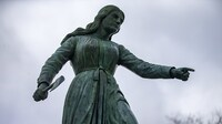 The Hannah Duston statue in G.A.R. Park in Haverhill, Mass., has become the subject of fierce public debate.