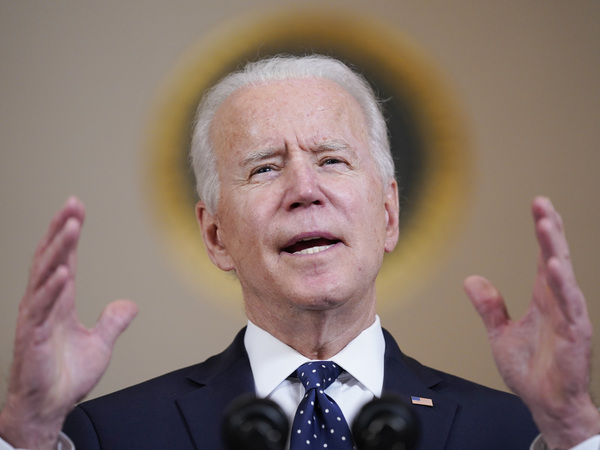 President Biden addresses the nation on April 20 after former Minneapolis police officer Derek Chauvin was convicted of murder and manslaughter in the death of George Floyd.
