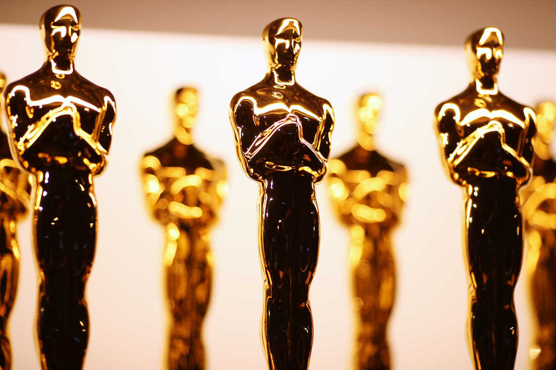 Oscar statuettes backstage during the 89th Annual Academy Awards on Feb. 26, 2017 in Hollywood, Calif.