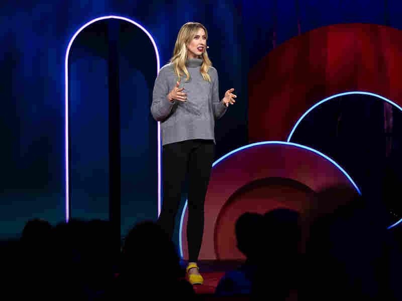 Nora McInerny speaks at TEDWomen 2018.