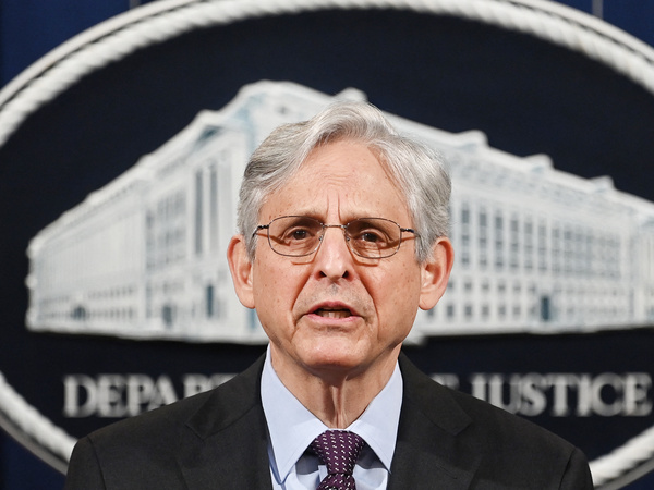 Attorney General Merrick Garland speaks Monday at the Department of Justice in Washington. Garland announced the department will open an investigation into the Louisville Metro Police Department.