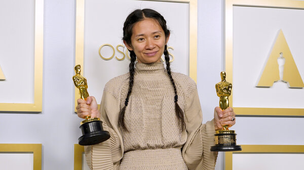 Nomadland's Chloé Zhao became the first woman of color to win an Oscar for best director.