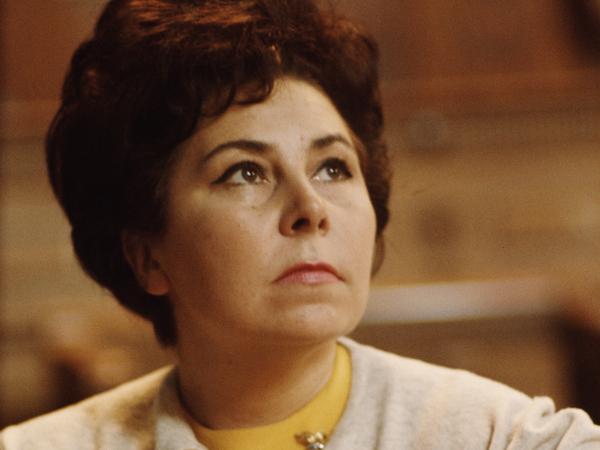 German mezzo-soprano Christa Ludwig, circa 1965.