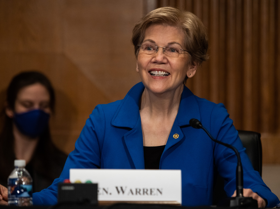 Sen. Elizabeth Warren, a Democrat from Massachusetts, still has a Plan for That and much to discuss in her new book. (Bloomberg via Getty Images)