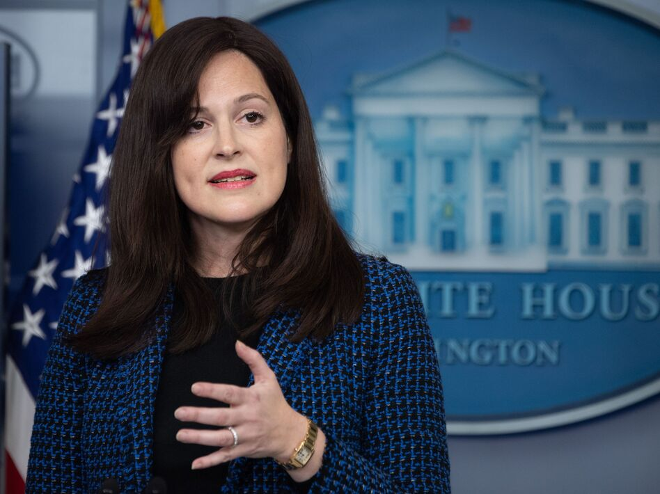 Anne Neuberger, the deputy national security adviser for cyber and emerging technology, says an upcoming executive order will strengthen U.S. cybersecurity, from setting up new ways to investigate cyberattacks to developing standards for software. (Saul Loeb/AFP via Getty Images)