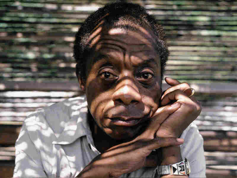 James Baldwin poses while at home in Saint Paul de Vence, South of France during September of 1985.