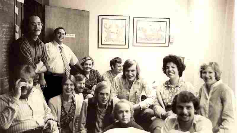 The All Things Considered staff in 1978.