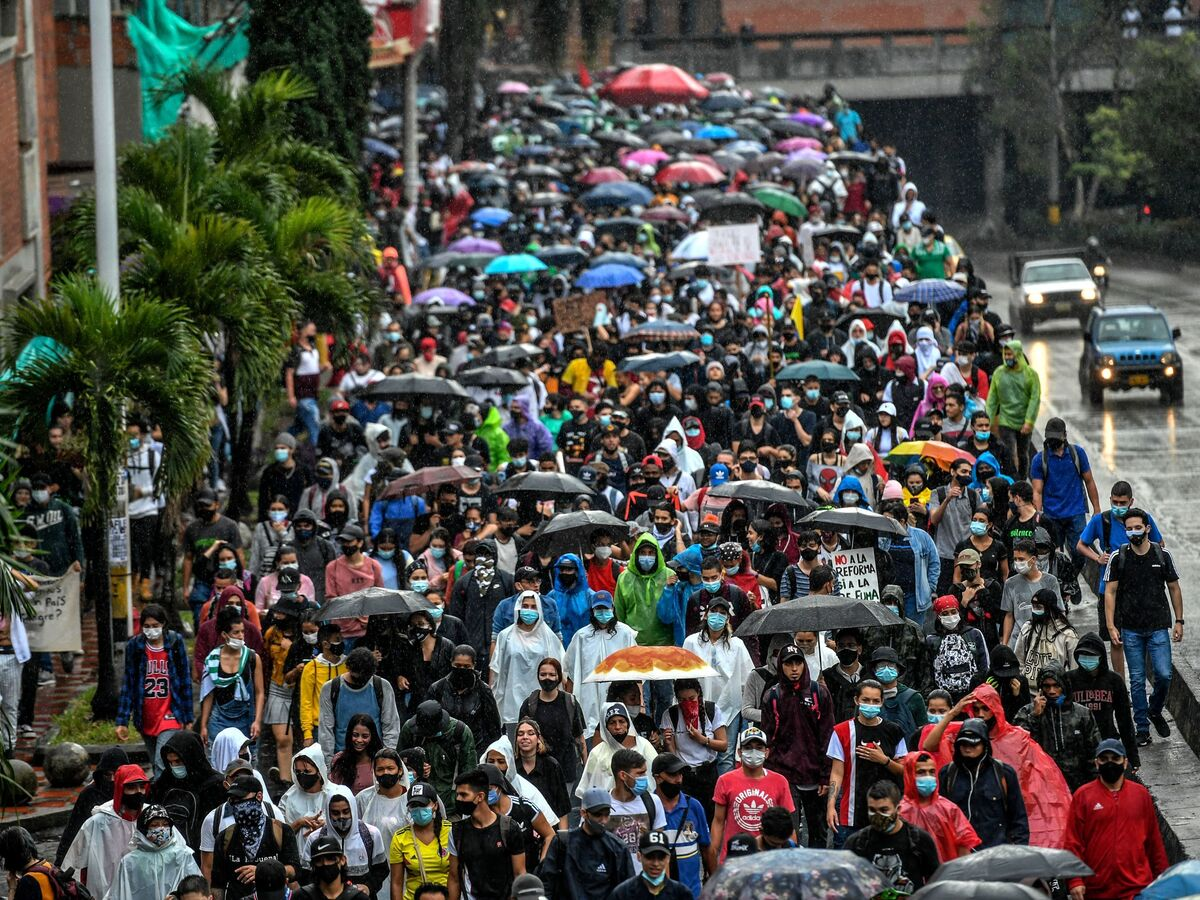 Protesters March In Colombia Against Plan To Raise Taxes In Pandemic-Wracked Economy