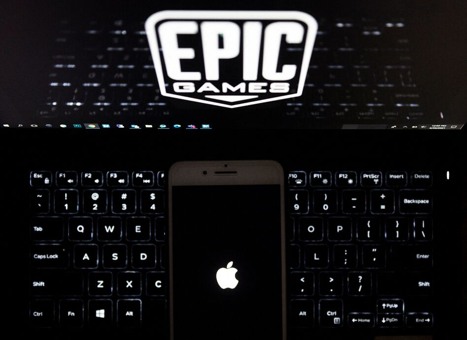 Epic Games, creator of the popular game Fortnite, accuses Apple of running its App Store as an illegal monopoly because it only allows in-app purchases on iPhones to be processed by Apple's own payment system. (Andrew Caballero-Reynolds/AFP via Getty Images)