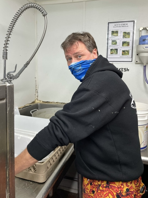 Bob Jarvis, owner of the Pilot House restaurant in Sandwich, Mass., on Cape Cod, is pitching in to wash dishes, cook and anything else, as his restaurants are woefully short-staffed.