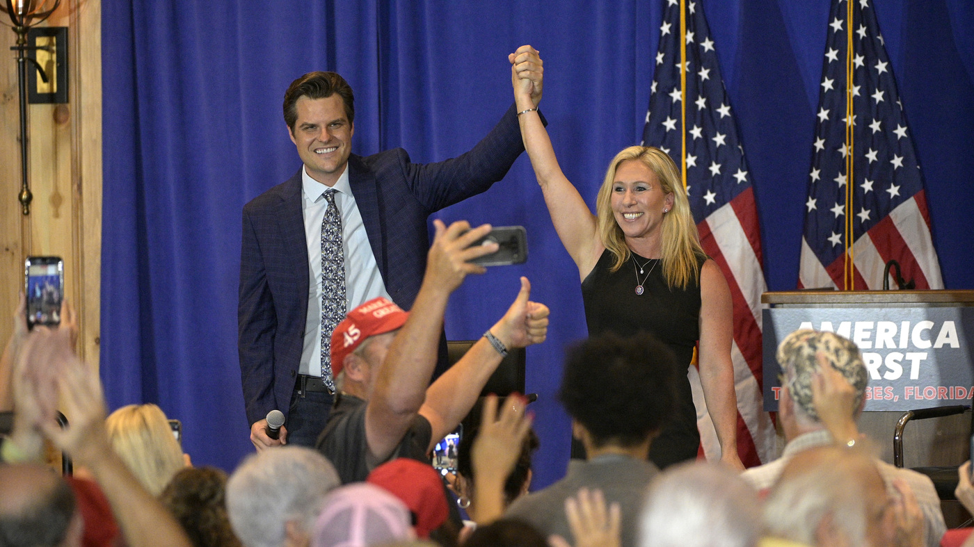 A Look At The GOP From Inside A Matt Gaetz Marjorie Taylor Greene Rally – NPR